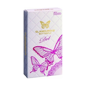 Bao cao su Jex Glamcurous Butterfly dot-hộp 8c